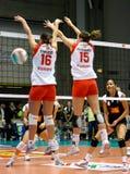 alla spelar den volleybal matchstjärnan Royaltyfria Foton