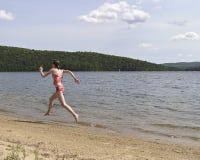 Alla spiaggia 1 Immagini Stock