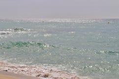 Alla spiaggia nel ` Estrac di Caldes d, la Spagna Fotografia Stock Libera da Diritti