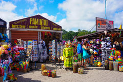 alla tillgängliga för aside som göras mest ostroner semesterortsnäckskal, shoppar souvenirsjöstjärnor sommaren dem vareträ Fotografering för Bildbyråer