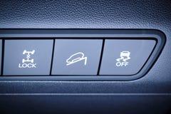 Alla wheells kör och andra säkerhetssystem som kopplar knappar. Royaltyfri Bild
