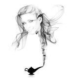 Alladins Lampe - schönes Mädchen stockfotos