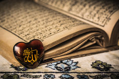 Allah god of Islam symbol koran background.  stock image