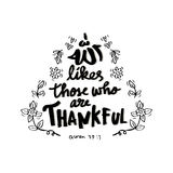 Allah likes those are thankful. Royalty Free Stock Images