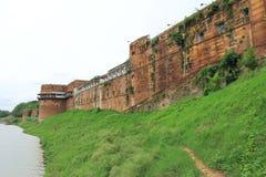 Allahabad fortanseende på flodbanken Indien Royaltyfria Bilder