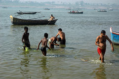 Allahabad Sangam Immagine Stock Libera da Diritti