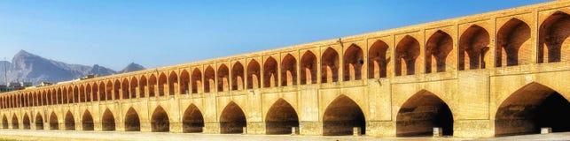 Allahverdi Khan Bridge en Isfahán fotografía de archivo