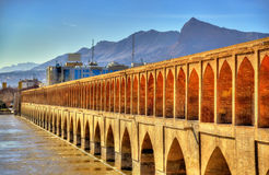 Allahverdi Khan Bridge (Si-O pol.) in Isphahan royalty-vrije stock afbeeldingen
