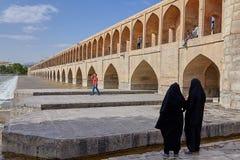 Allahverdi Khan most, także zwany Si polityka most, Isfahan, obrazy stock