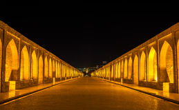 Allahverdi Khan most w Isfahan (Si polityk) zdjęcie stock