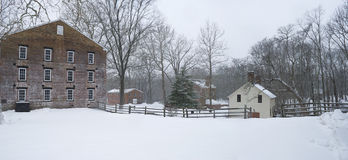 Allaire Winter Panorama Royalty Free Stock Photos