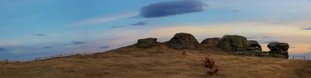 Allaki archeological stones. In Russia Royalty Free Stock Photography