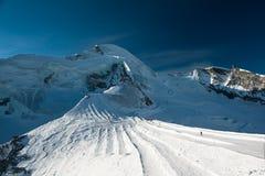 Allalinhorn mountain peak Stock Photo
