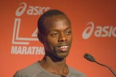 Allan Kiprono , kenyan marathon runner attends a press conferenc Stock Photo