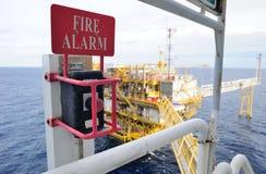 Allarme antincendio offshore Immagini Stock Libere da Diritti