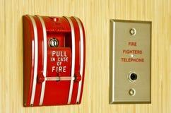 Allarme antincendio rosso Fotografia Stock Libera da Diritti