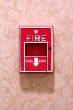 Allarme antincendio su una parete Immagine Stock