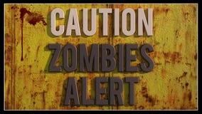 Allarme degli zombie di cautela Fotografie Stock