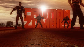 Allarme degli zombie di cautela Immagini Stock Libere da Diritti