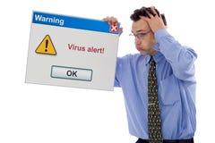 Allarme del virus Fotografia Stock Libera da Diritti