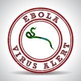 Allarme del virus di Ebola in Africa illustrazione vettoriale
