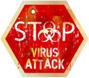 Allarme del virus informatico Immagini Stock