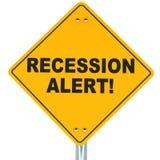 Allarme di recessione illustrazione vettoriale