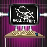 Allarme di Troll royalty illustrazione gratis