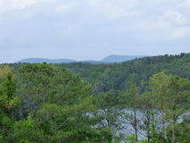 Allatoona Overlook. This is a beautiful overlook of Lake Allatoona with mountain peaks of North Georgia in the background. This photo is taken from a Mountain Royalty Free Stock Photography