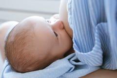 Allattando al seno per la maternità dei neonati Immagini Stock Libere da Diritti