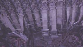 Alldeles av polyestersadelgjordsväven som piskar och att piska bälten, remmar och spärrhjular som stuvas, i att piska behållaren  royaltyfria foton