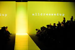 Alldressedup backdrop and spectator gallery at Audi Fashion Festival 2011 Stock Image