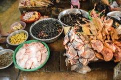 Alle Art Fisch- und Hühnerteile Lizenzfreie Stockfotos