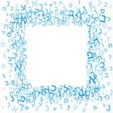 Alle brieven van Hebreeuws alfabet, Joods ABC-patroon, vierkant kader, verschillende brieven, vector illustratie