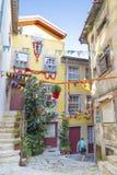 Allée dans la vieille ville Porto Portugal Image libre de droits