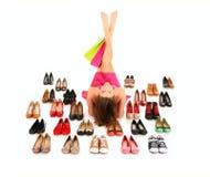 Alle, die ich benötige, sind Schuhe! Lizenzfreie Stockfotos