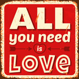 Alle, die Sie benötigen, ist Liebe Lizenzfreie Stockfotos