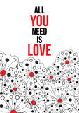 Alle, die Sie benötigen, ist Liebe Stockbild