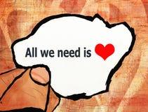 Alle, die wir benötigen, ist Liebesillustration lizenzfreie abbildung