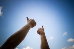 Alle duimen omhoog Royalty-vrije Stock Afbeeldingen