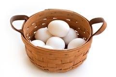 Alle Eieren in Één Mand Royalty-vrije Stock Afbeelding