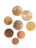 Alle euro muntstukken Royalty-vrije Stock Foto