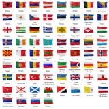 Alle europäische Markierungsfahne lizenzfreie abbildung