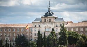 Alle f?r das Vaterland, spanische Infanterie-Hochschularchitektursonderkommando in Toledo, Spanien lizenzfreie stockfotos
