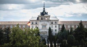 Alle f?r das Vaterland, spanische Infanterie-Hochschularchitektursonderkommando in Toledo, Spanien lizenzfreies stockbild
