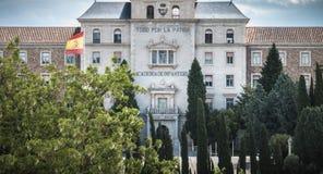 Alle f?r das Vaterland, spanische Infanterie-Hochschularchitektursonderkommando in Toledo, Spanien stockfoto