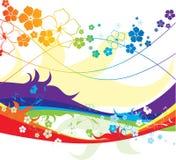 Alle Farben des Regenbogens Stockbild