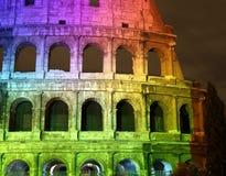 Alle Farben im Colosseum Stockfotos