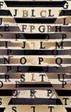 Alle geschuifelde brieven stock afbeeldingen