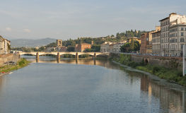 Alle Grazie bridge in Florence Royalty Free Stock Photography